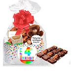 Cakesupplyshop 4th Birthday / Anniversary Gourmet Food Gift Basket Chocolate Brownie Variety Gift Pack Box (Individually Wrapped) 12Pack
