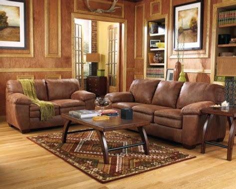 decorate  living room  brown furniture