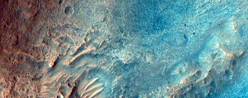 Mars in all its two-toned glory.