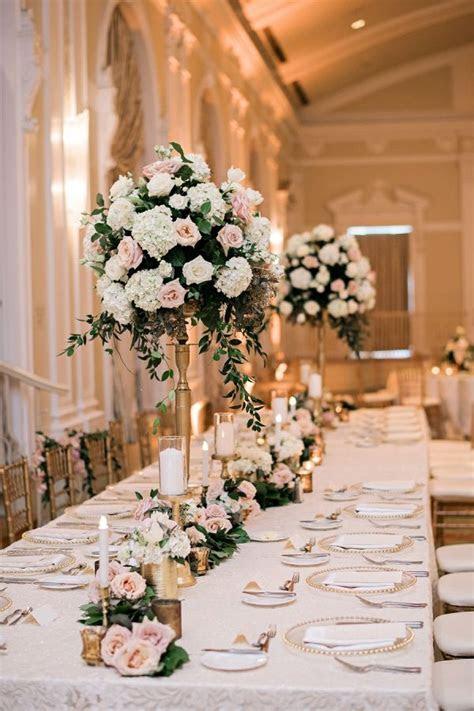 Soft   Romantic Florida Wedding   Centerpieces From Aisle