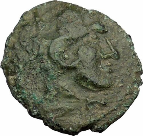 LELUKAS-AKARNANIA-350BC-Hercules-Club-Authentic-Ancient-Greek-Coin-Ex-BCD-i38096