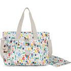 Kipling Miri Metallic Diaper Bag, Grey