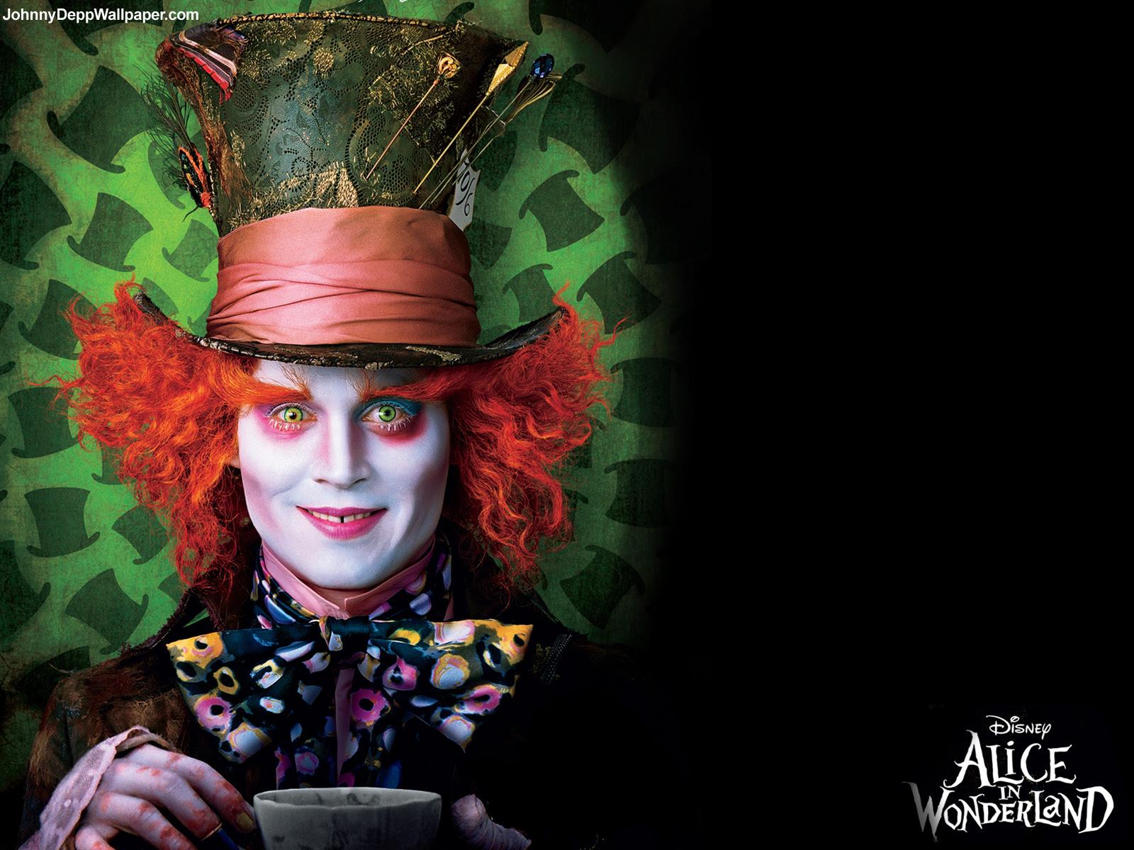 Johnny Depp Wallpaper Alice In Wonderland Wallpaper Alice In
