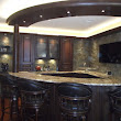 High-end custom wet bar in basement