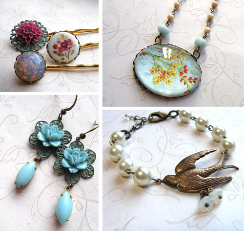 botanical bird nature inspired jewelry