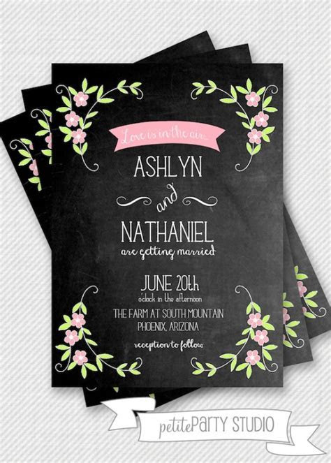 Design Your Perfect Wedding Invitations : Chalkboard