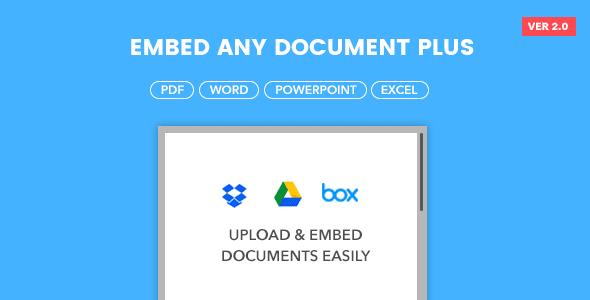 Embed Any Document Plus - WordPress Plugin