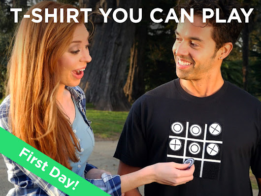 Now Launched on Kickstarter: Tic Tac Toe Tee, t-shirt you can play