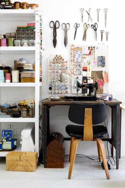 Gorgeous sewing room / workspace