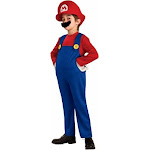 Rubies Costumes 186156 Super Mario Bros.- Mario Deluxe Toddler-Child Costume