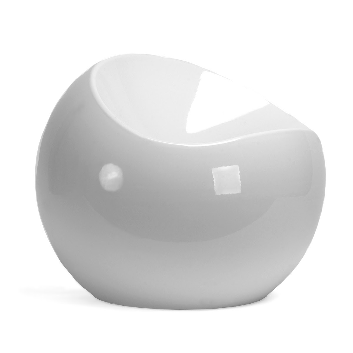 Replica Finn Stone Ball Chair white