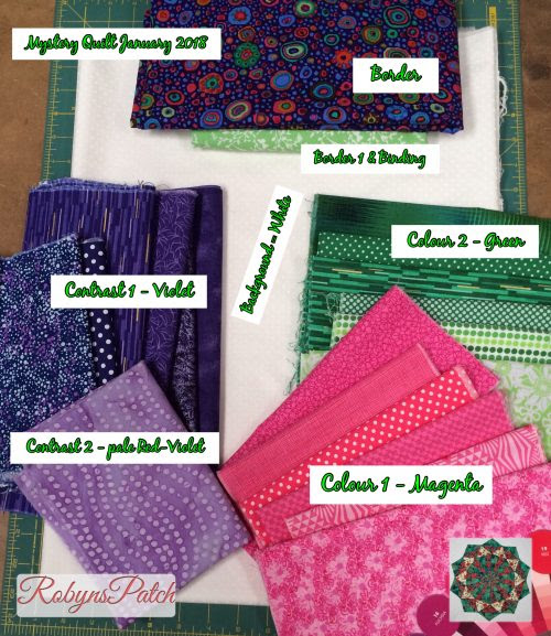 January Mystery Quilt – Colours
