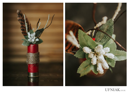 "Ufniak Photography on Twitter: ""Shotgun shell #boutonniere from a hunting themed wedding in #Derbyshire  #weddinghour #Chesterfield """
