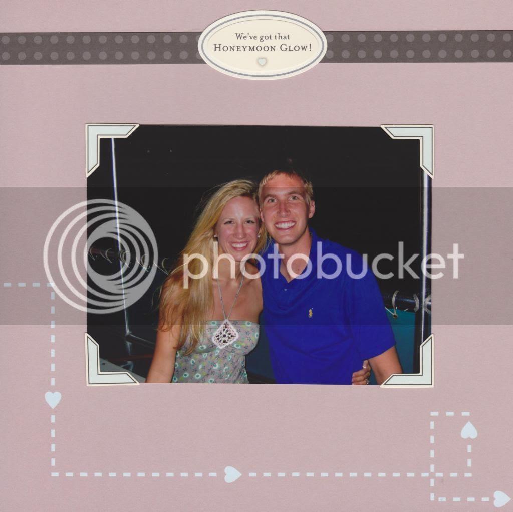 honeymoon album page {Breezy Pink Daisies}