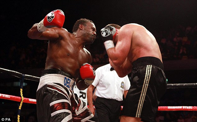 Stoppage: The referee stopped the fight after a dominant performance from the Londoner