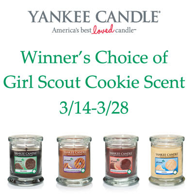 Winners Choice of Yankee Candles Girl Scout Cookie Tumbler. Ends 3/28