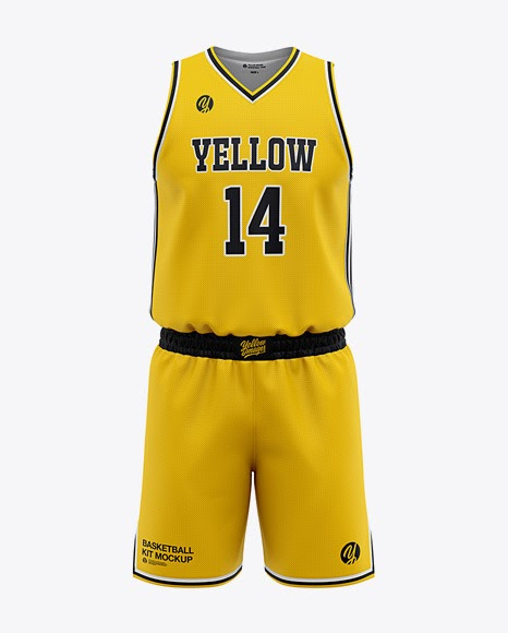 Download Mens Basketball Kit Front View Jersey Mockup PSD File 75 ...