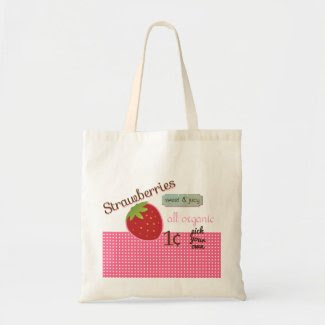 Vintage Strawberry Eco Bag zazzle_bag