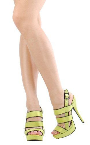 GOES WITH THAT HIP LIME BAG: Qupid Open Toe Sling Back Ankle Buckle Strappy Satin Sandals Quheigl-76 Lime: Shoes