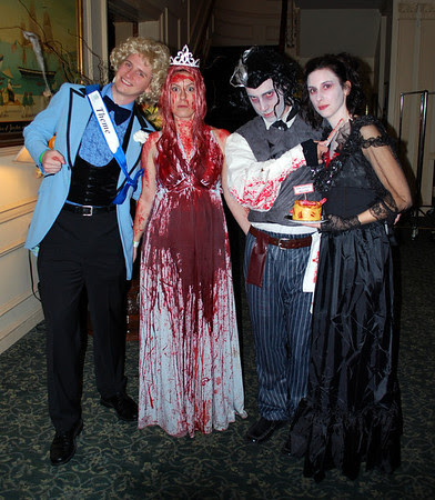 Carrie & Her Prom Date along with Sweeney Todd & Mrs. Lovett (complete with meat pie!)
