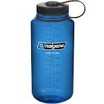 Nalgene Wide Mouth Water Bottle, Blue, 32 oz