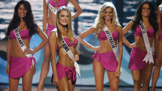 Miss Universe: The final five in bikinis, gowns