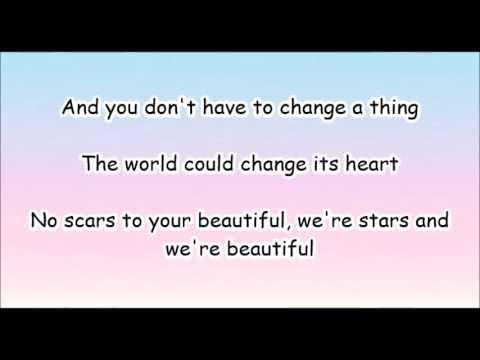 Scars To Your Beautiful Lyrics Spanish Happy Beautifully
