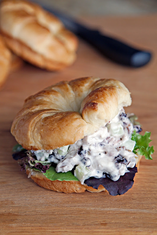 Blueberry Chicken Salad Croissant