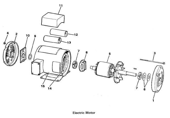 Ge Electric Motor Parts Diagram