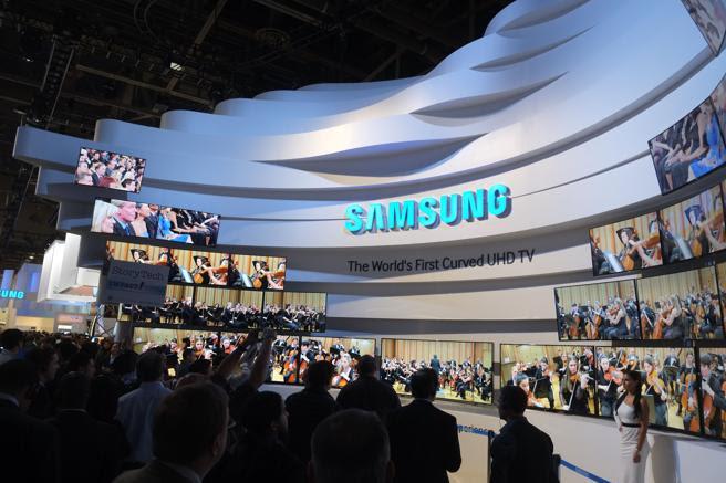 Escenario de presentación de Samsung durante el CES de 2014