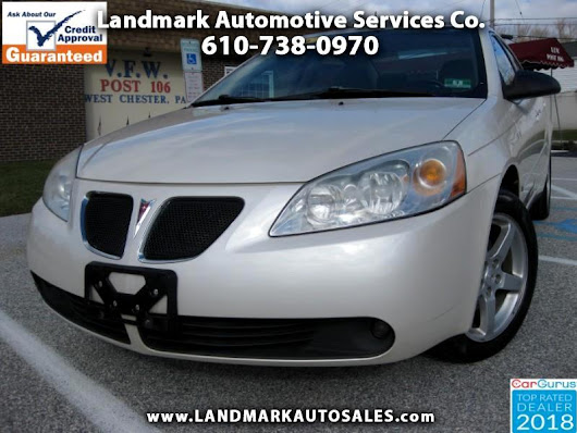 Used 2008 Pontiac G6 Sedan for Sale in West Chester PA 19380 Landmark Auto Sales