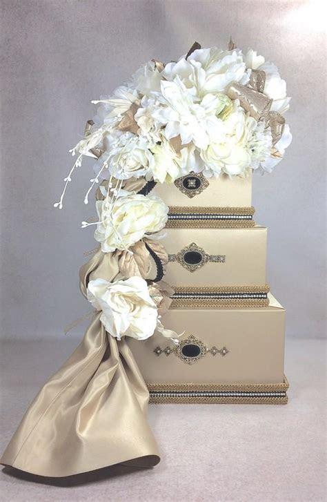 Wedding Card Box Gold With Black Wedding Card Holder