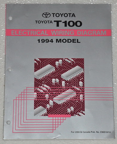 1994 TOYOTA T100 PICK-UP TRUCK Electrical Wiring Diagrams ...