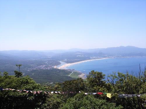 遠眺福隆海水浴場