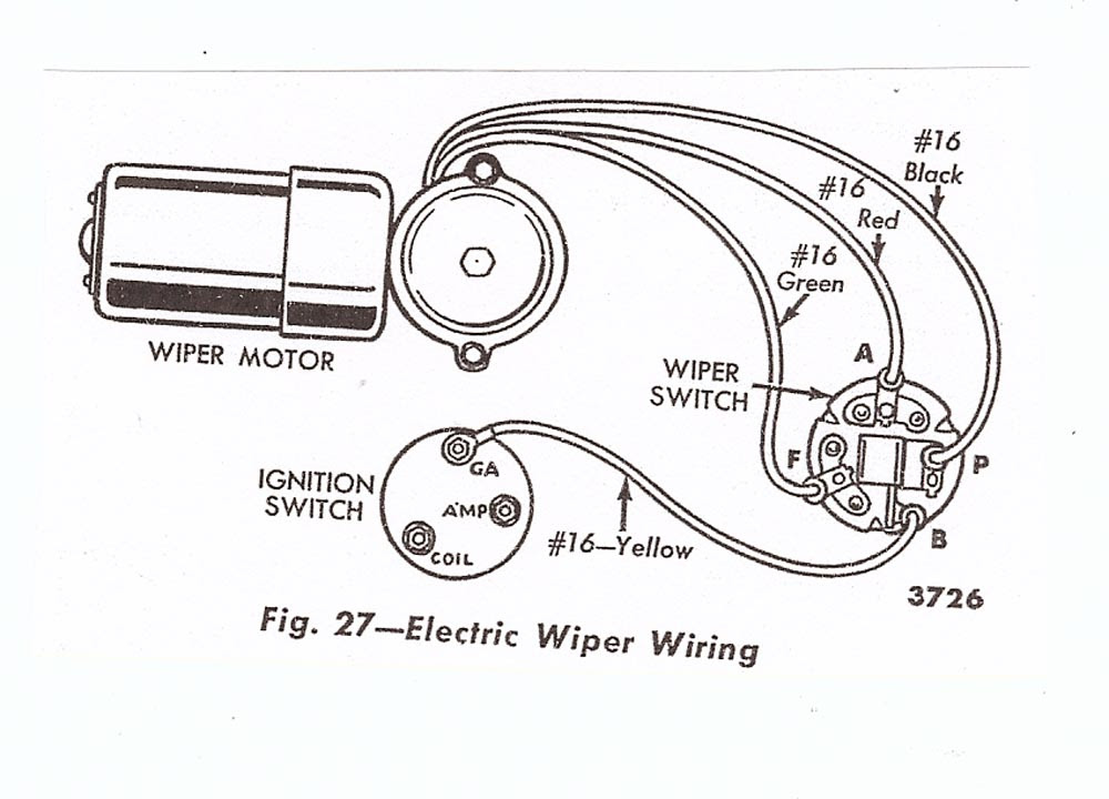 4 Wire Wiper Motor Wiring Diagram