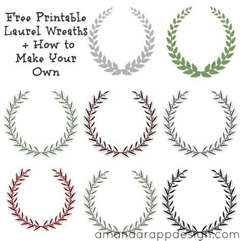 Free Printable Laurel Wreaths   How to Make Your Own