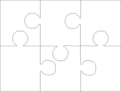 blank puzzle template | A little girls play day | Pinterest ...