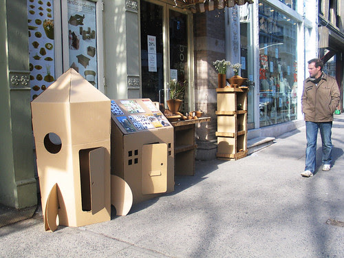 Cardboard store, Lafayette Street