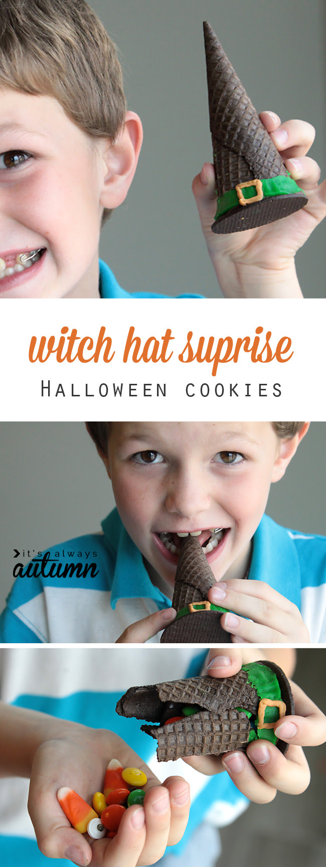 witch hat surprise cookies {easy Halloween treat for kids ...
