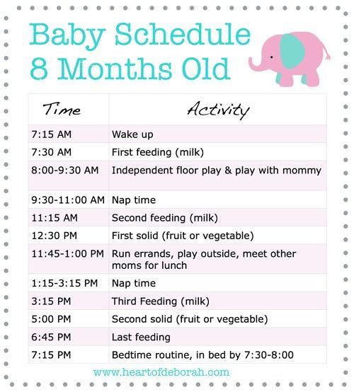 Daily Schedule 8 Week Old Baby | Daily Planner