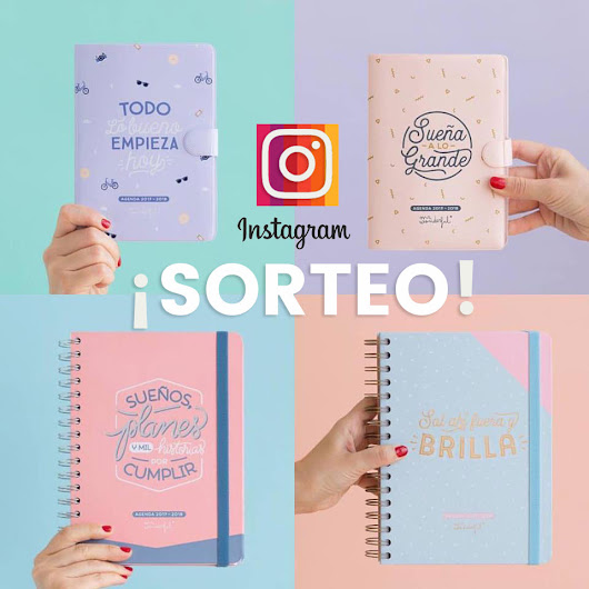 Sorteo de una agenda de Mr.Wonderful en Instagram
