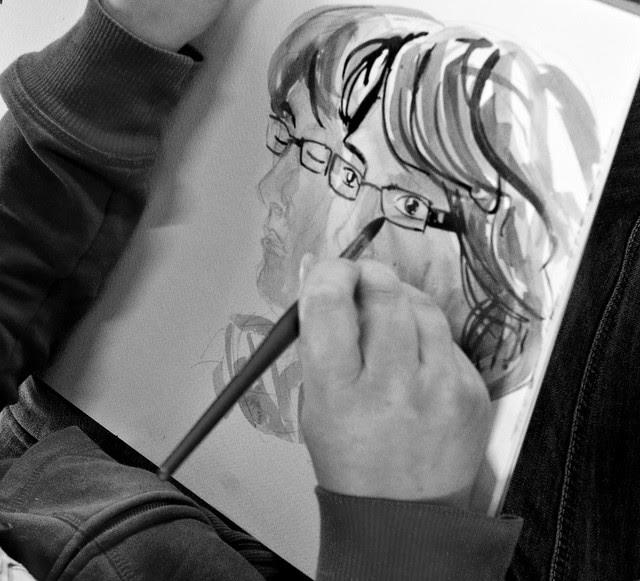an artist at work