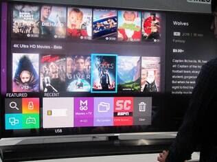Tizen, sistema próprio da Samsung, lembra o webOS, da concorrente LG