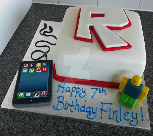 Image: Roblox Cake with Sugar iPad by clvmoore on DeviantArt