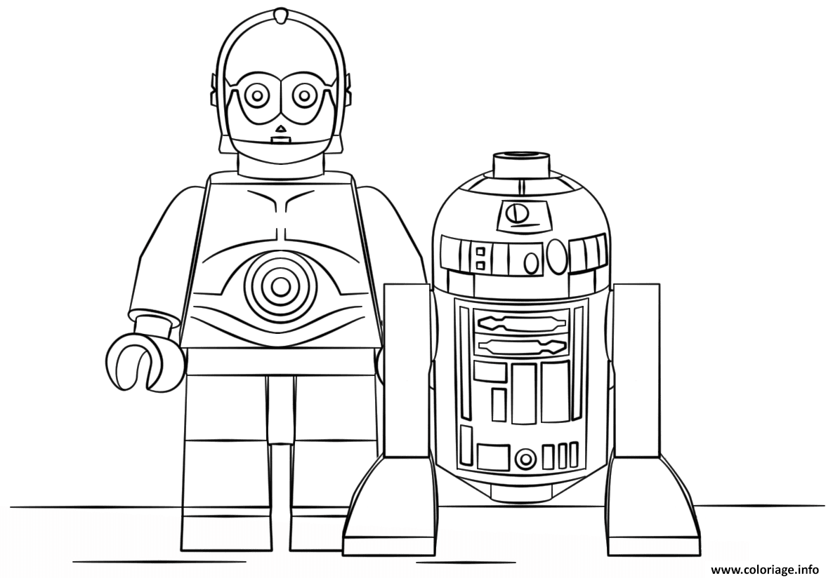 Comfortable Coloriage Lego Star Wars R2d2 And C3po Jecoloriecom