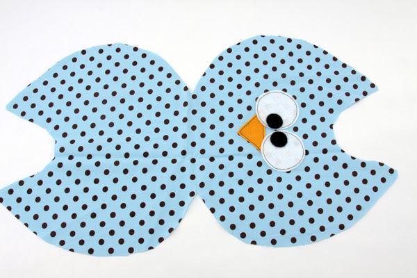 almofada coruja passo 2 Como Fazer Almofada de Coruja   Material e Passo a Passo