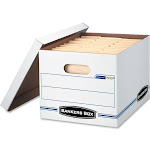 Bankers Box Stor/File Storage Box Letter/Legal Lift-Off Lid White 6/Pack