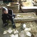 Looting debris at Iraqi National Museum