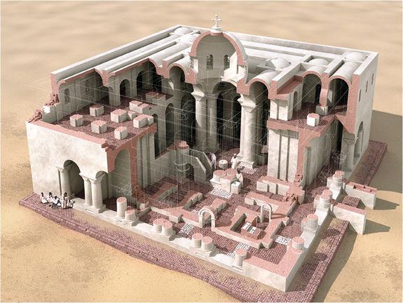 Los historiadores árabes de la época se impresionaron con los monasterios cristianos que vieron en Makuria. A pesar que algunos de estos reportes pueden considerarse exagerados, los arqueólogos han encontrado algunas iglesias medievales fantásticas, como por ejemplo la de Banganarti, cuya reconstrucción en 3D se muestra en esta imagen.