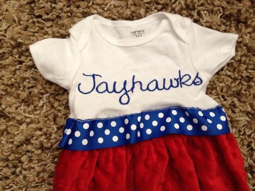 Jayhawk's Onesie Gown 2